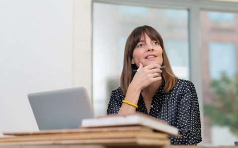 Woman thinking about her return to work in 2018